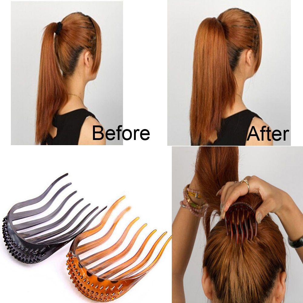 Women Girl Hair Styling Clip Comb Stick Bun Maker Braid Tool Hair Accessories Medium Hair Braids Womens Hairstyles Hair Styles