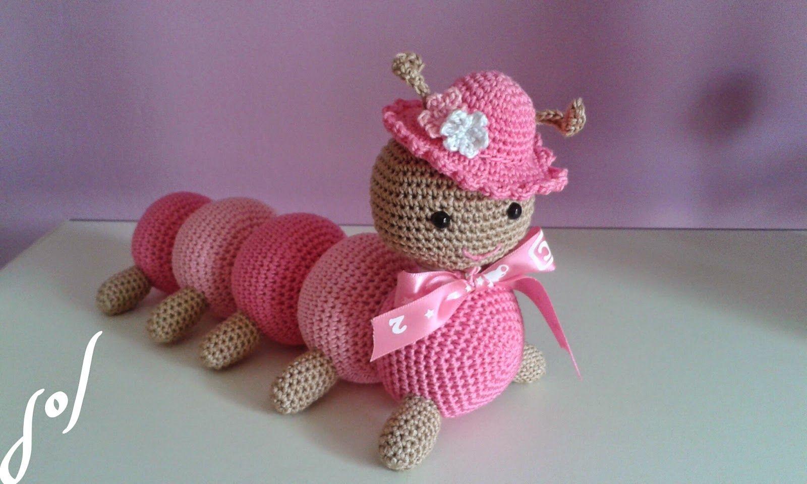 Amigurumi Tutorial Gratis : Oruga amigurumi con patron gratis muñecos crochet
