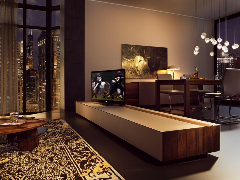 Low Wooden TV Cabinet CUBUS Cubus Collection By TEAM 7 Natürlich Wohnen |  Design Sebastian Desch