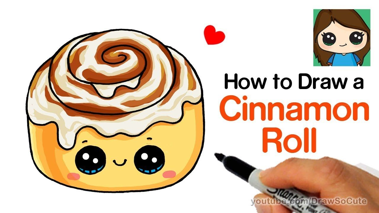 How To Draw A Cinnamon Roll Cute And Easy Draw So Cute Food