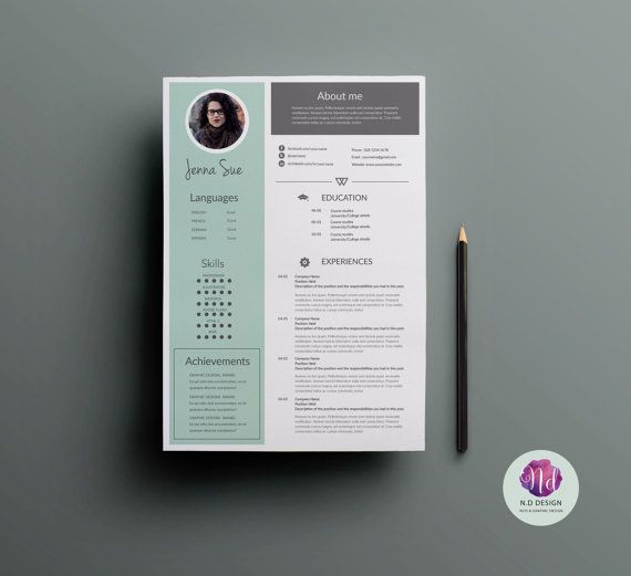 1 page resume template cover letter template reference letter