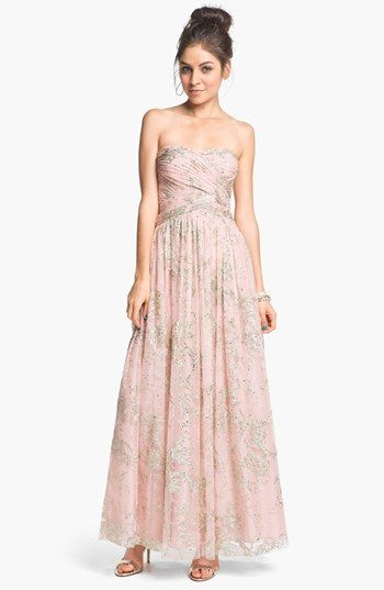 Hailey by Adrianna Papell Glitter Tulle Ball Gown (Online Only ...
