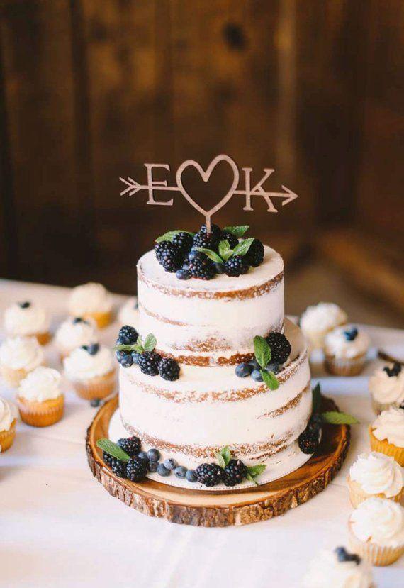 Rustic Wedding Arrow Cake Topper Decoration Beach Wedding