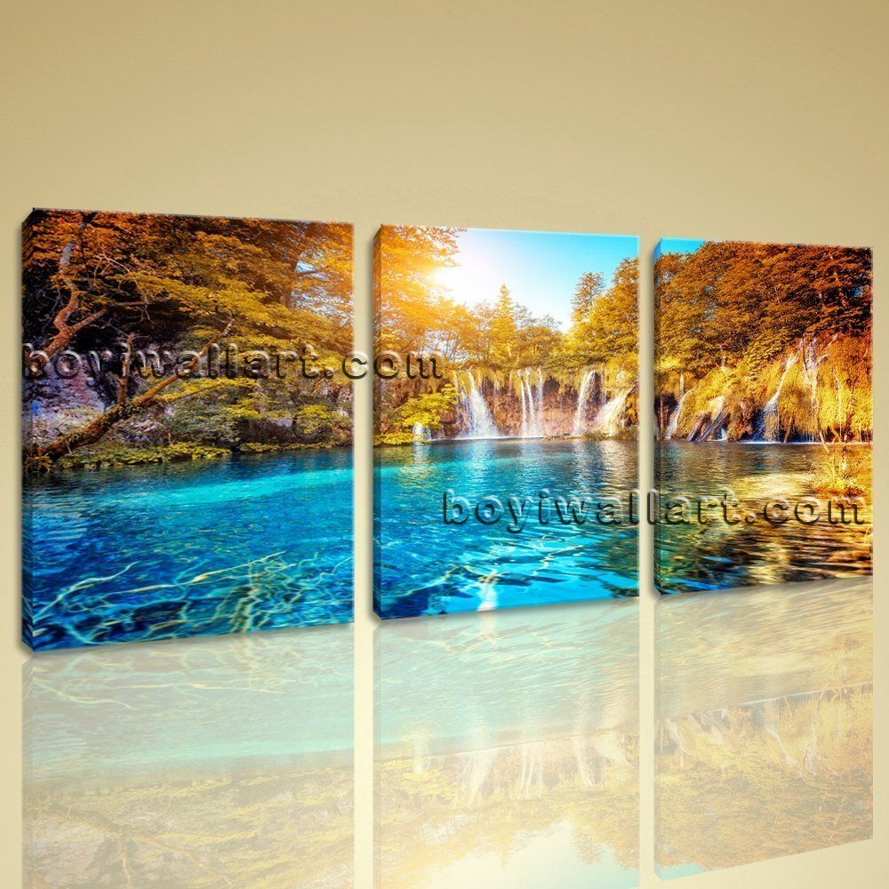 Modern Paintings For Living Room Large Famous Resort Landscape Contemporary Print On Canvas Wall