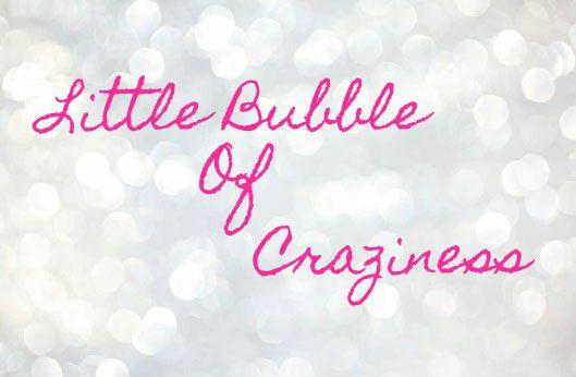 Bienvenue dans ma bulle ! Welcome to my bubble!  http://littlebubbleofcraziness.blogspot.fr