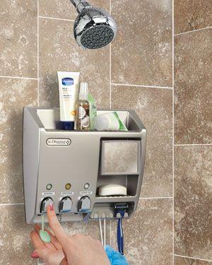 Ulti Mate Shower Dispenser 3 Chamber Bathroom Gadgets Shower