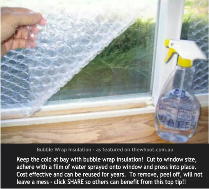 Bubble Wrap Insulation For Your Windows Home Ideas