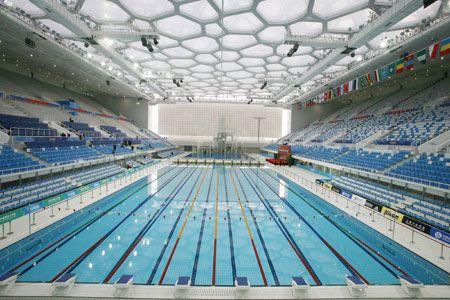 israel matzav olympic swimming pool opens in gaza