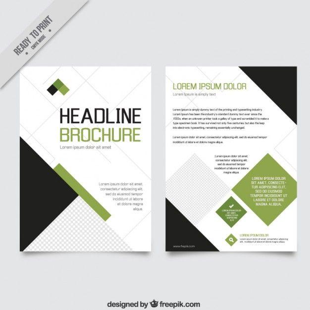 verde geométrica e insecto negócio preto Business poster - free e flyers