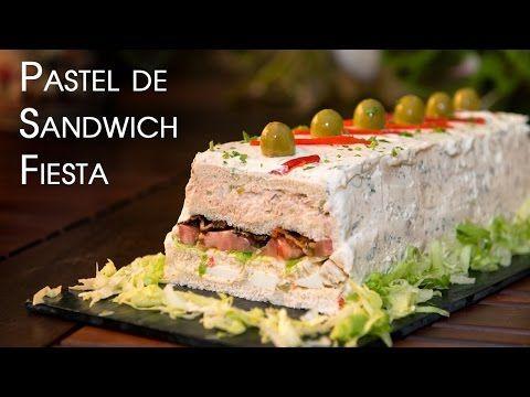 Cómo Preparar Sandwichon Youtube Pasteles Salados Pasteles Salados Frios Sándwiches Para Fiestas