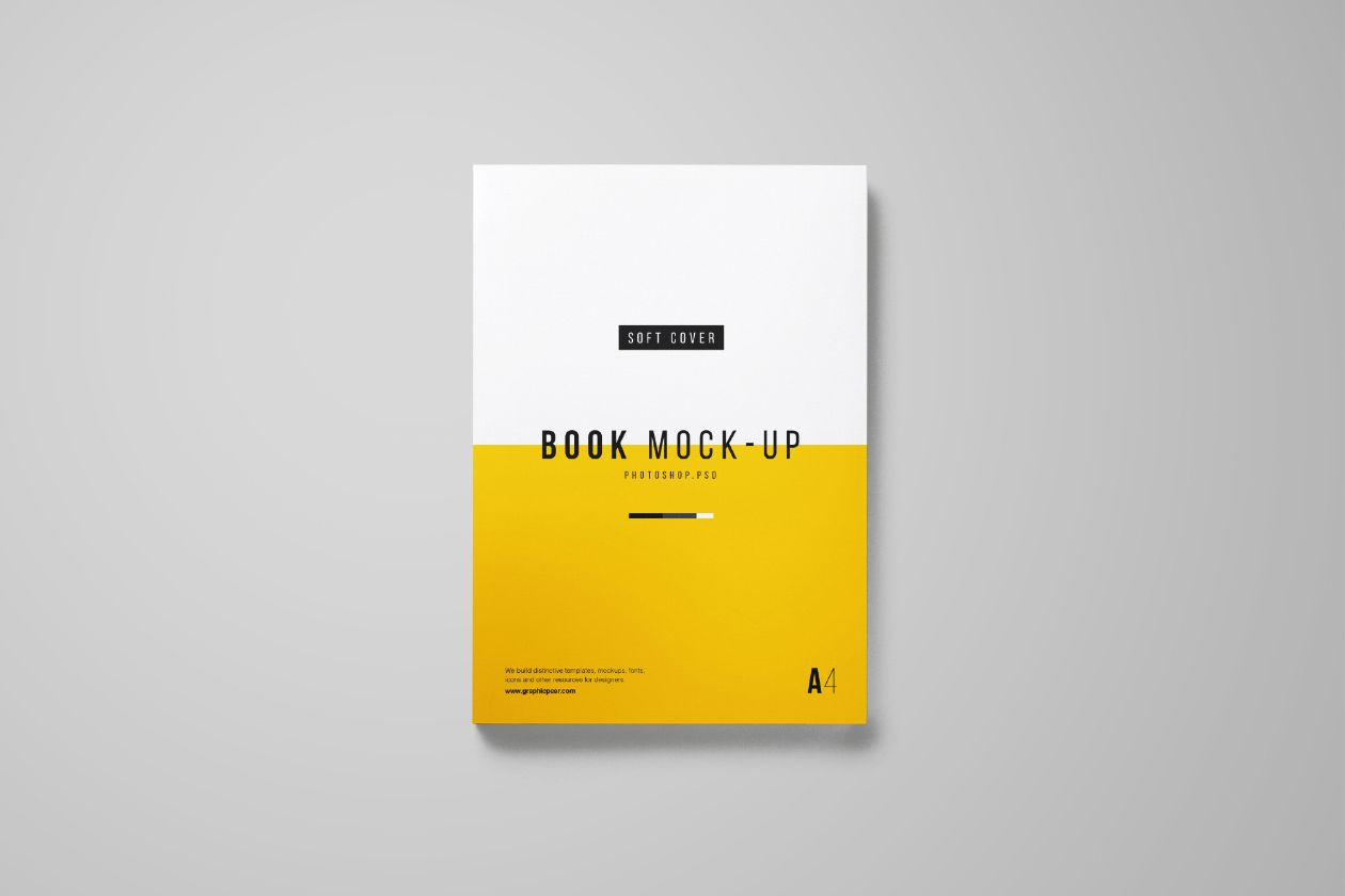 photorealistic a4 book mockup useful for designers whether