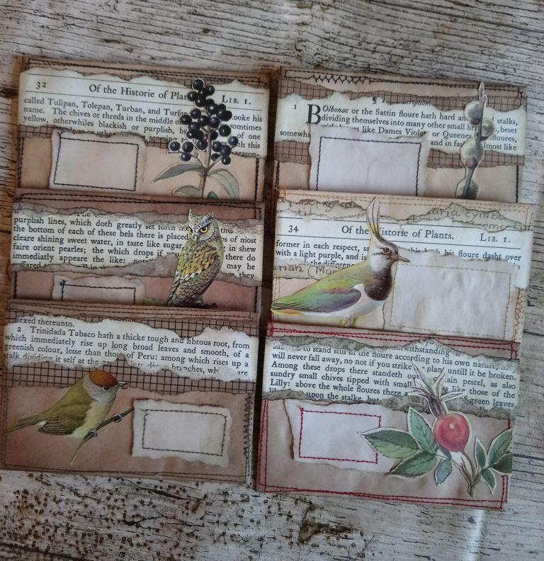 Woodland Nature Themed Vintage Envelope Sets Handmade Envelopes Nature Themed Tea Dyeing