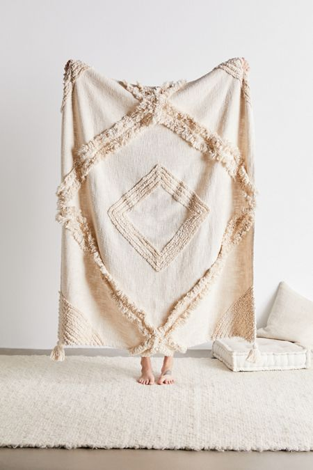 Aden Tufted Throw Blanket In 2020 Blanket Bed Throws