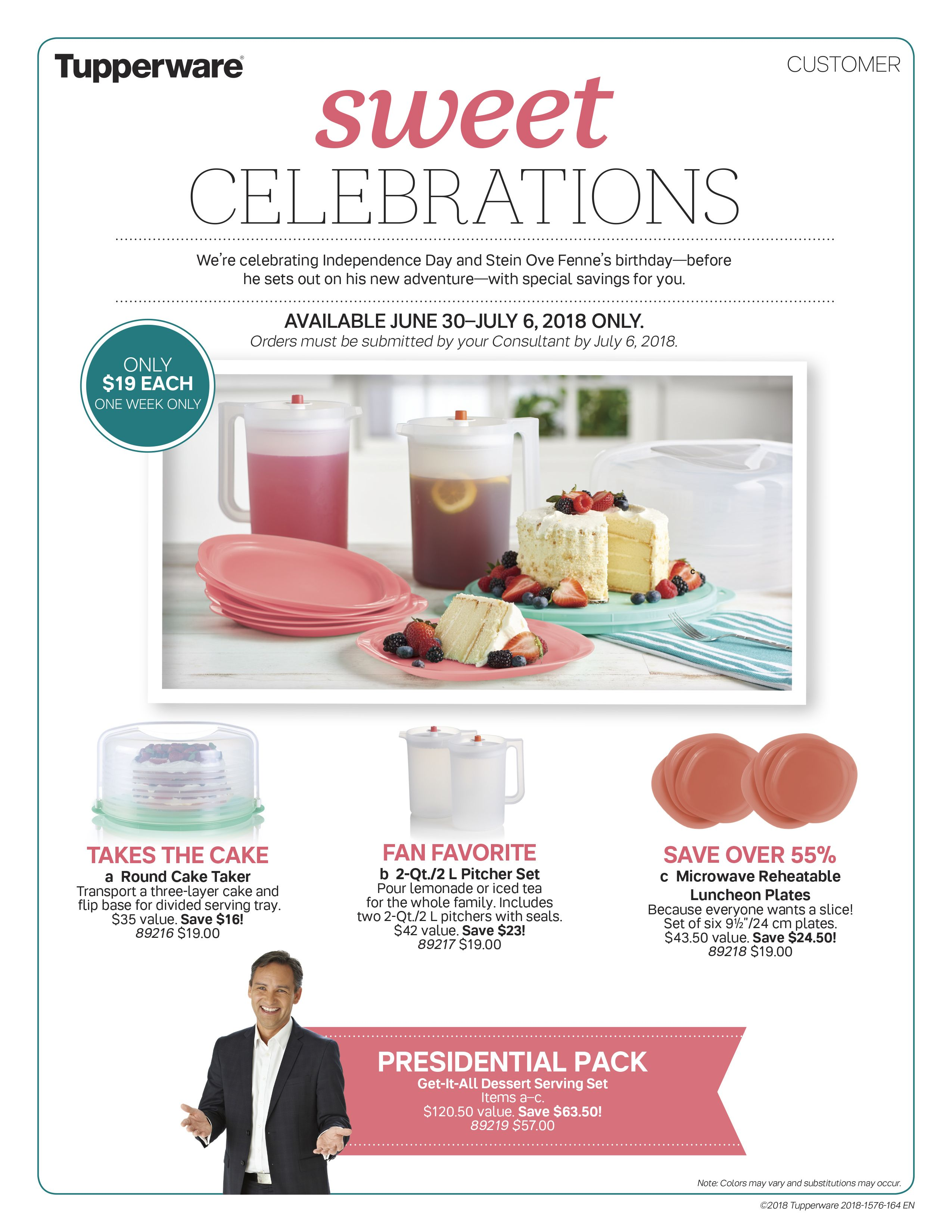 Tupperware Sale June 30th - July 7th 2018 Call Wendy to