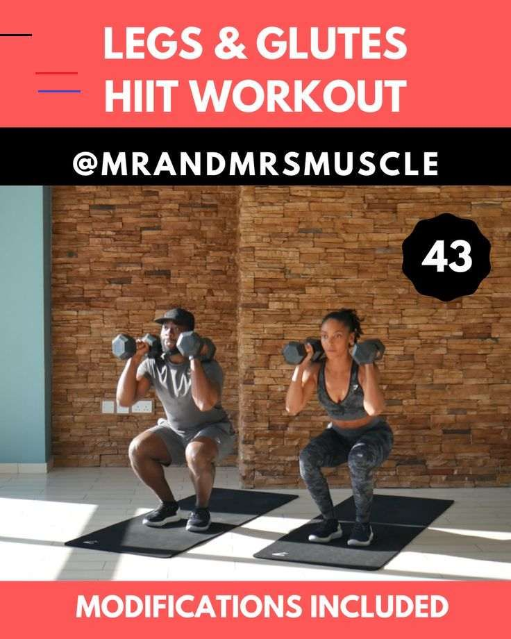 Legs & Glutes HIIT Workout Burpee variation with weights build strength and muscle in your upper and...