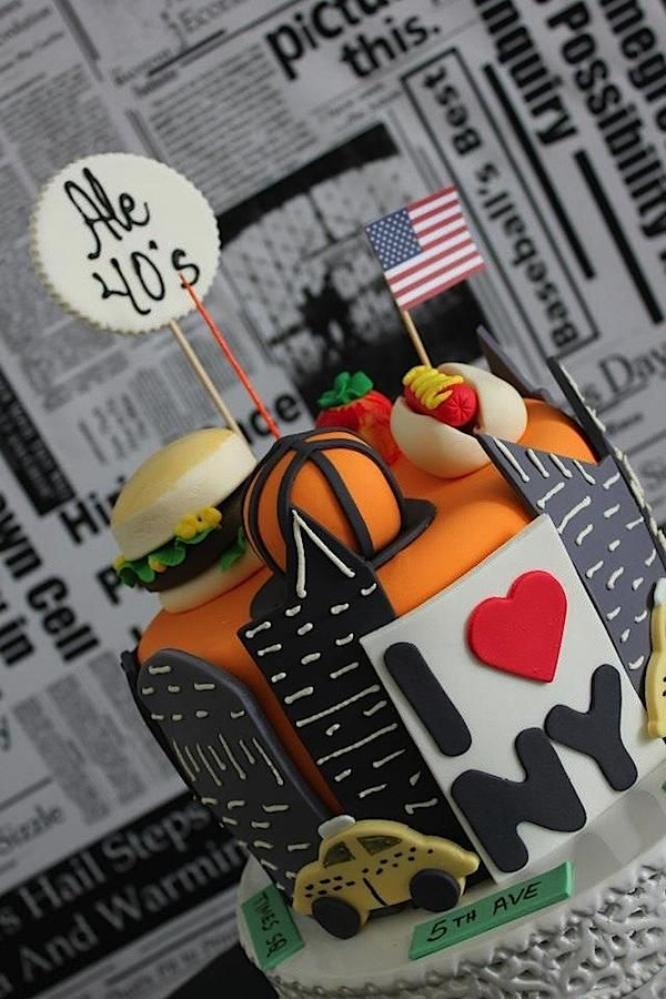 New York City Big Apple 40th Birthday Party Planning Ideas