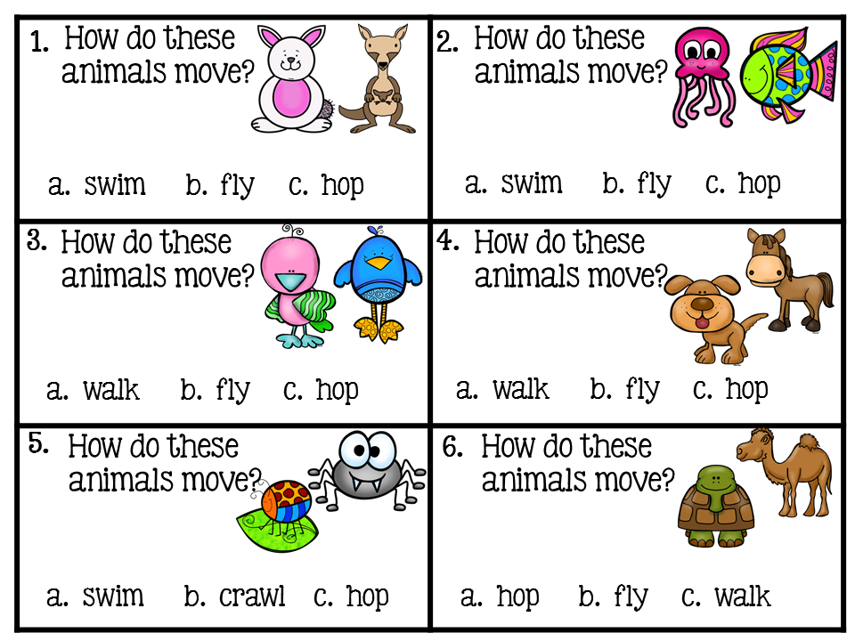 Scoot! Animals 1st grade activities, First grade science