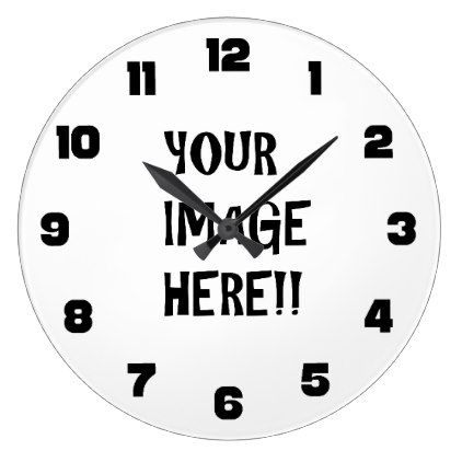 Design Your Own Round Large Wall Clock Black Pinterest Clock