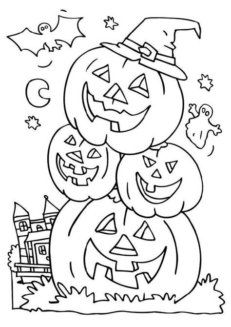 Free Coloring Pages of halloween | Coloring Pages More | Art | Pinterest