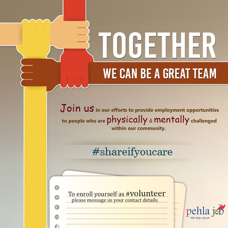 Together, we can be a great team Pehlajob has tied up with
