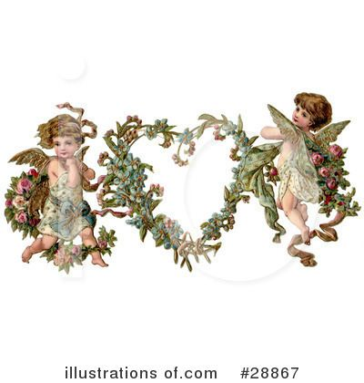 Royalty Free RF Victorian Valentine Clipart Illustration 28867 By