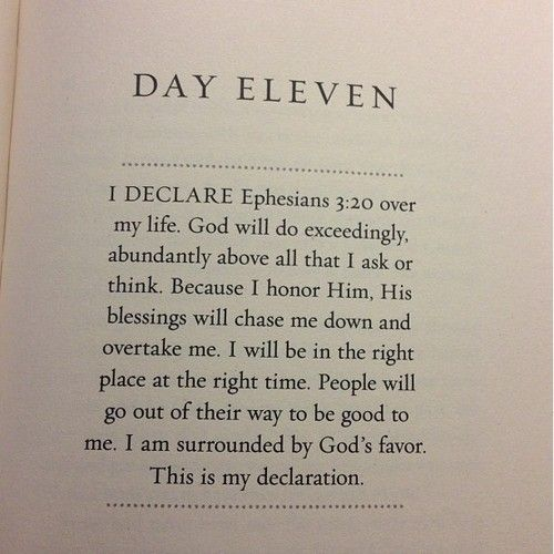 I declare Ephesians 3:20 over my life. God will do exceedingly abundantly above all that I ask or think. This is my declaration.