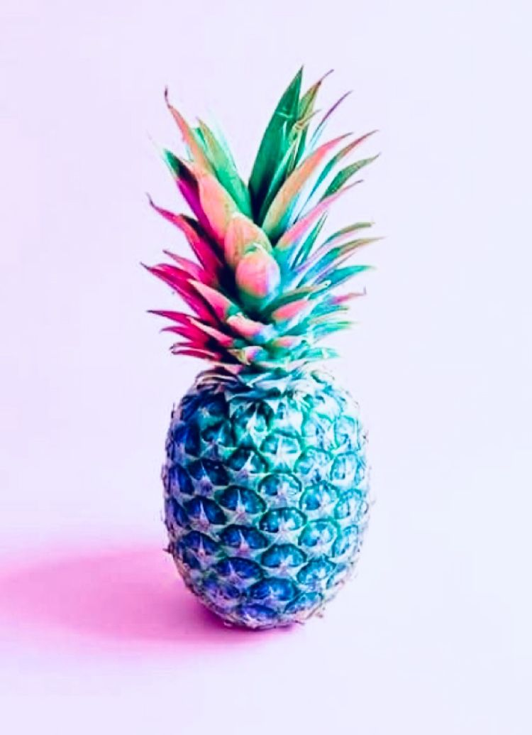 colored pineapple | Pineapple wallpaper, Iphone background ...