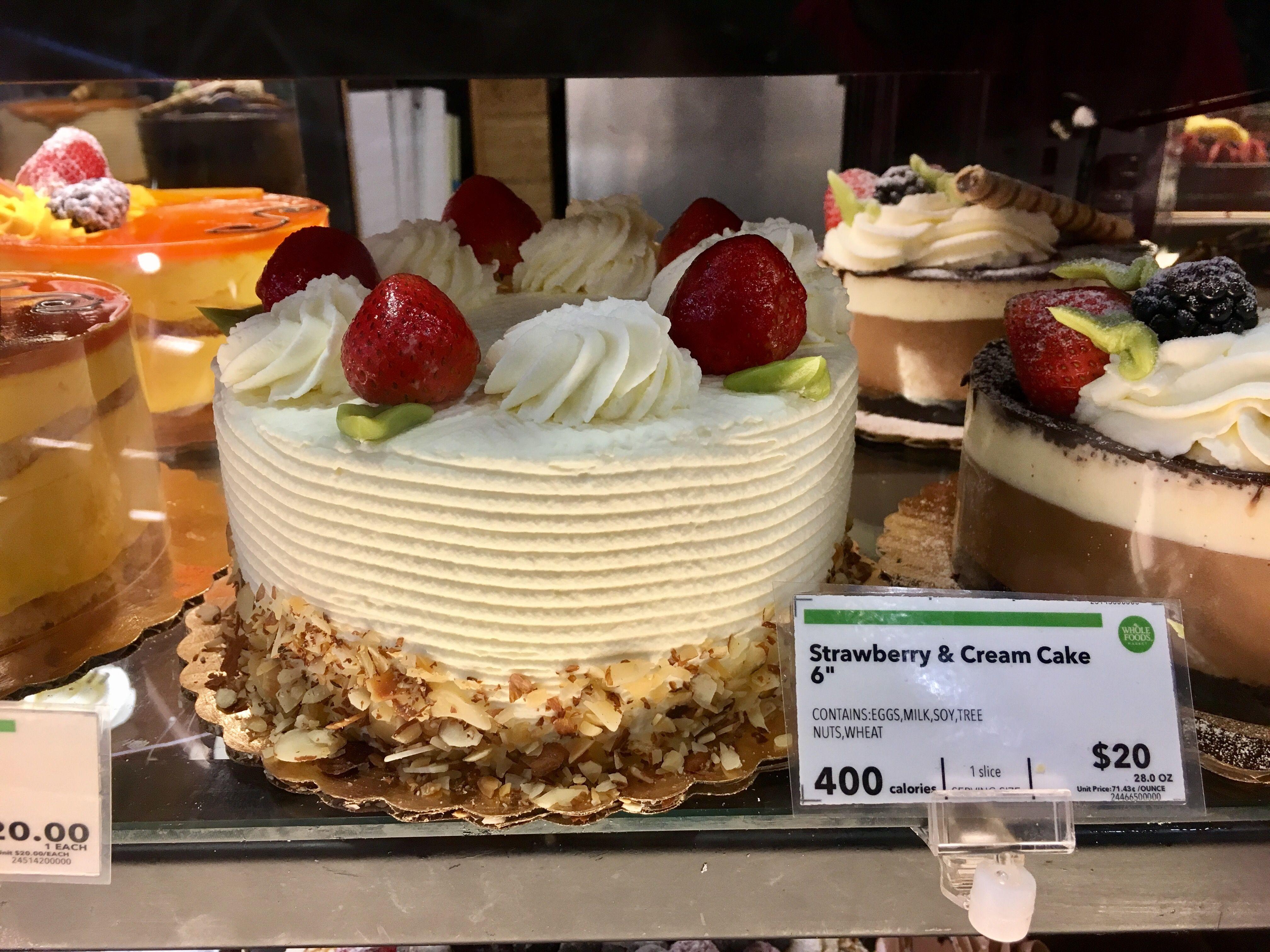 Whole Foods strawberry cream cake topper Strawberry