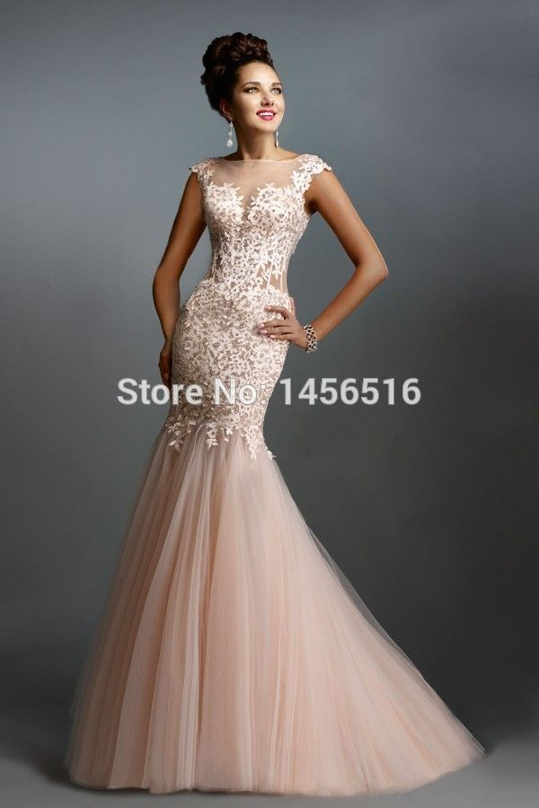 7bdde1763d Sexy Lace Long Elegant Mermaid Prom Dresses 2015 Evening Dress for Prom  festa vestidos de para festa formatura longo-in Prom Dresses from Weddings    Events ...