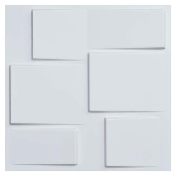 Art3d 19 7 In X 19 7 In White Pvc 3d Wall Panels Decorative Wall Design 12 Pack A10020 The Home Depot 3d Wall Panels Wall Design Wall Appliques