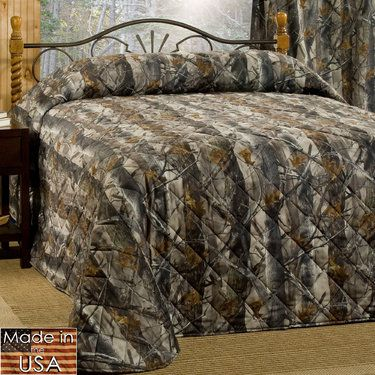 True Timber XD3 Rustic Camo Quilted Bedspread Bedding | House and ... : camo quilt bedding - Adamdwight.com
