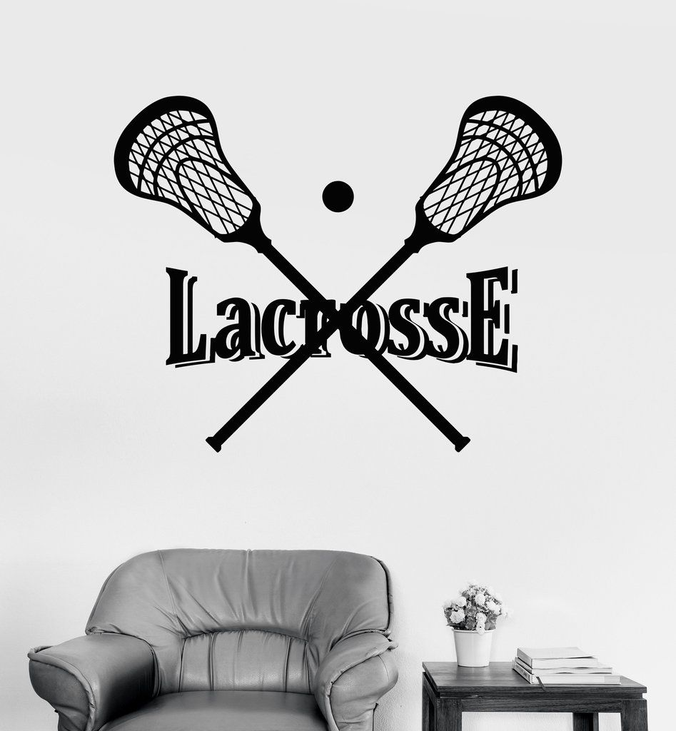 Vinyl Wall Decal Lacrosse Stick And Ball Player Sports Stickers Unique Gift Ig4062 Lacrosse Wall Stickers Sports Vinyl Wall Decals [ 1024 x 947 Pixel ]