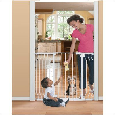 70 99 145 00 The Sure Secure Extra Tall Walk Thru Gate From Summer Infant Is Hardware Mounted And Helps Create And Main Baby Gates Baby Proofing Summer Baby