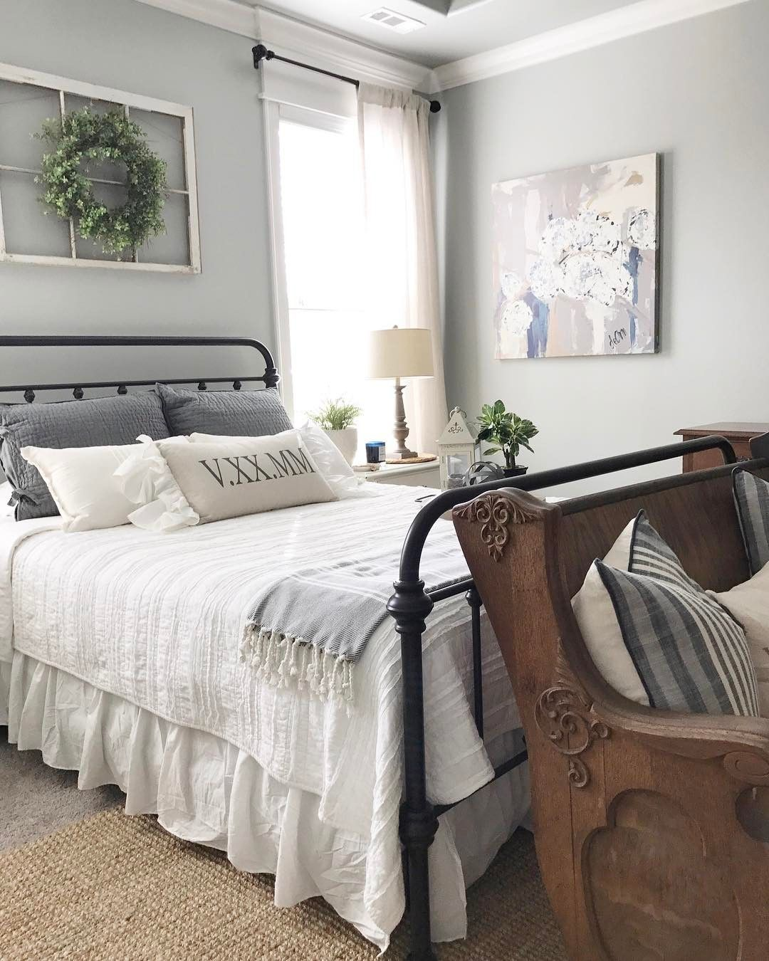 Joanna gaines master bedroom bedding   Likes  Comments  alicia our vintage nest ourvintagenest