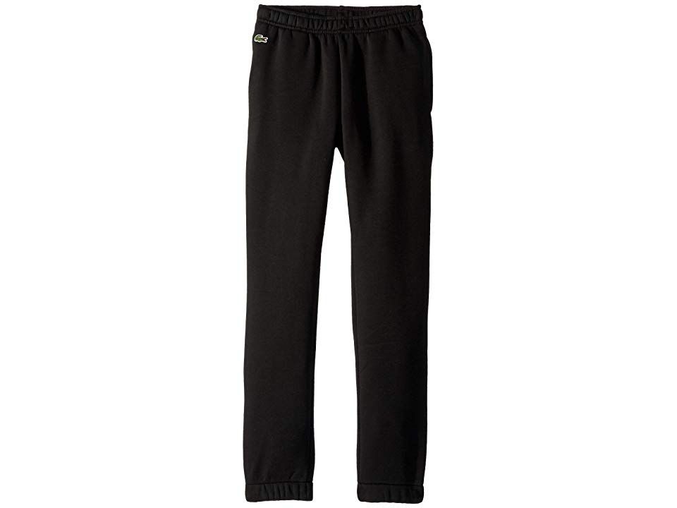 3072195a1199 Lacoste Kids Fleece Pants (Toddler Little Kids Big Kids) (Black ...