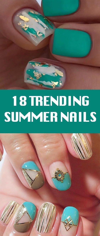18 Trending Summer Nail Designs 2018 Cotton Candy Nail Polish
