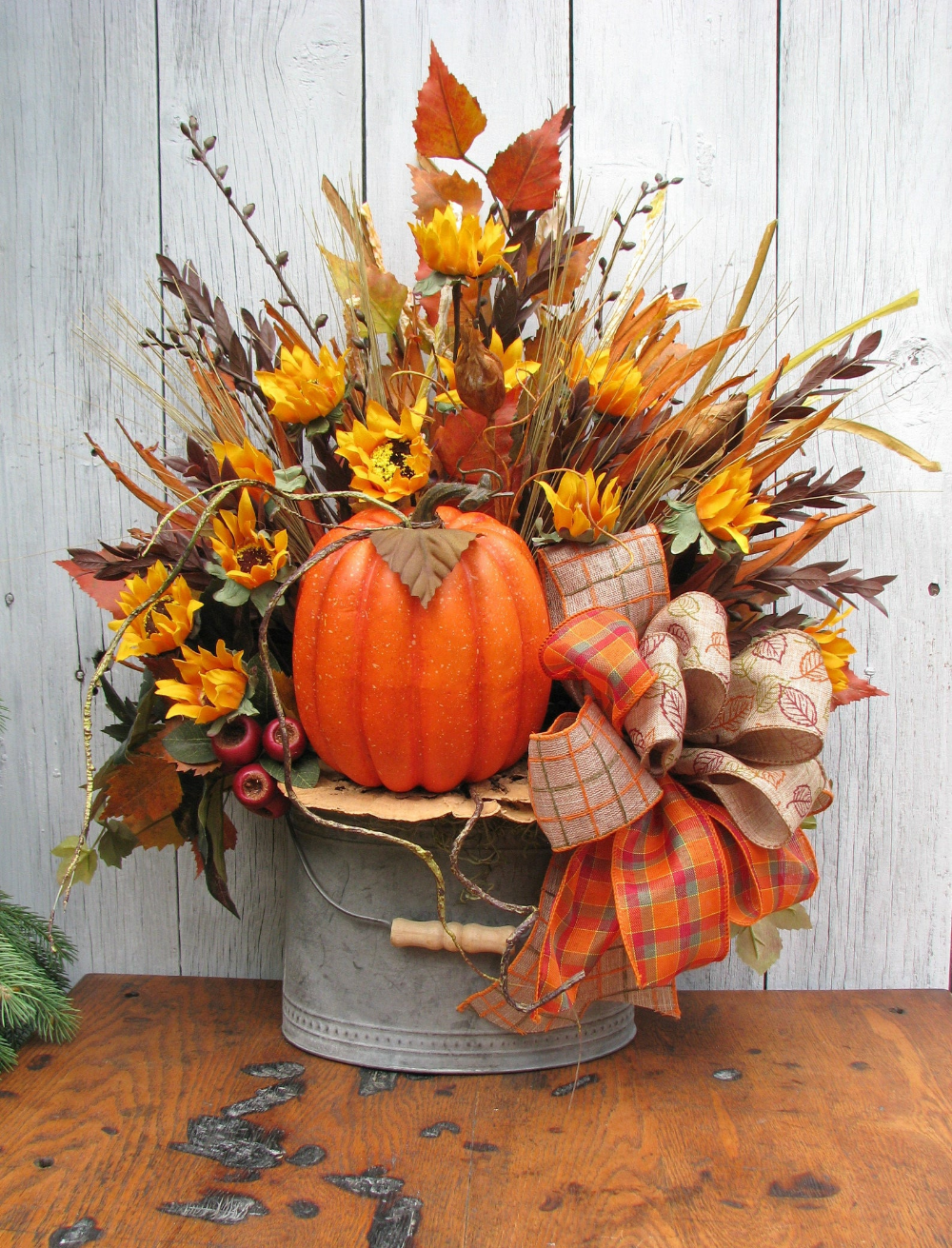 Rustic Fall Centerpiece Thanksgiving Table Centerpiece Wreathbury Lane With Images Rustic Fall Centerpieces Harvest Decorations Fall Thanksgiving Decor