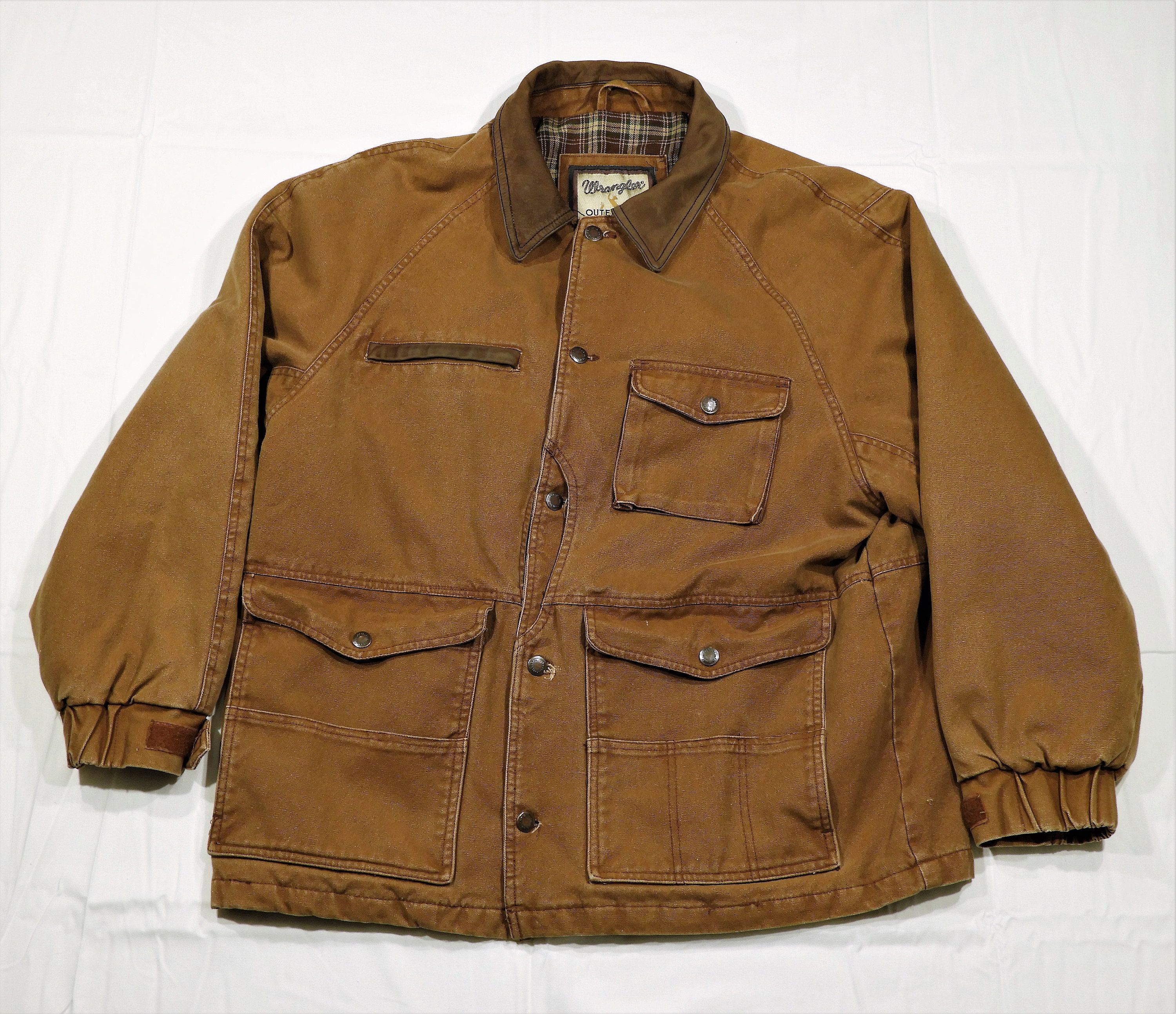 Vintage Wrangler Outerwear Western Barn Coat Brown Farm Jacket