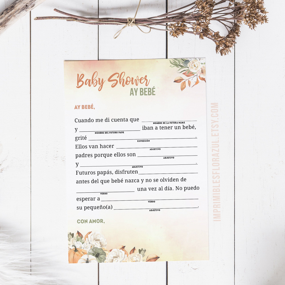 Fall Baby Shower games | My little pumpkin | Autumn Baby Shower games | Printable games