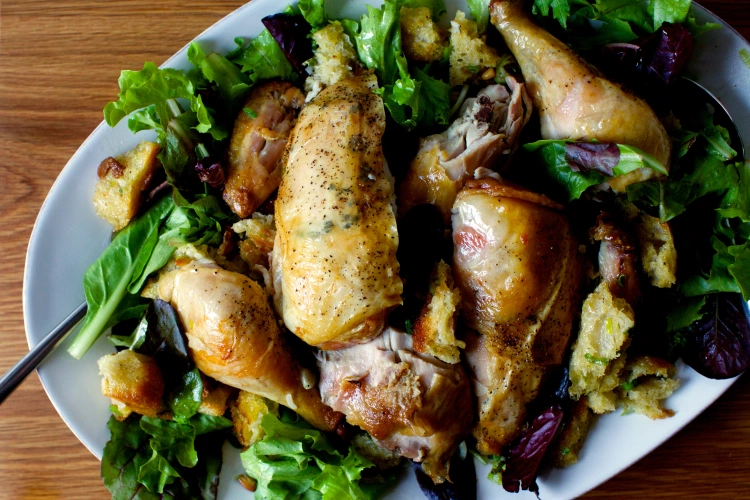 Photo of zuni cafe's roasted chicken + bread salad