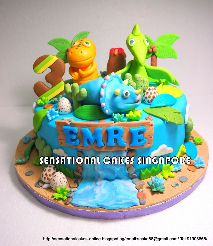 Sensational Cakes Online Singapore DINOSAUR TRAIN CAKE