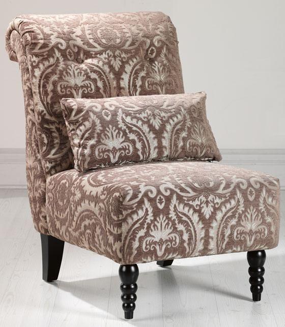 Best 239 Lilac Damask Tufted Slipper Chair Gypsy Bohemian 640 x 480