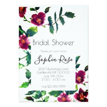 Vintage Rose- bridal shower Card