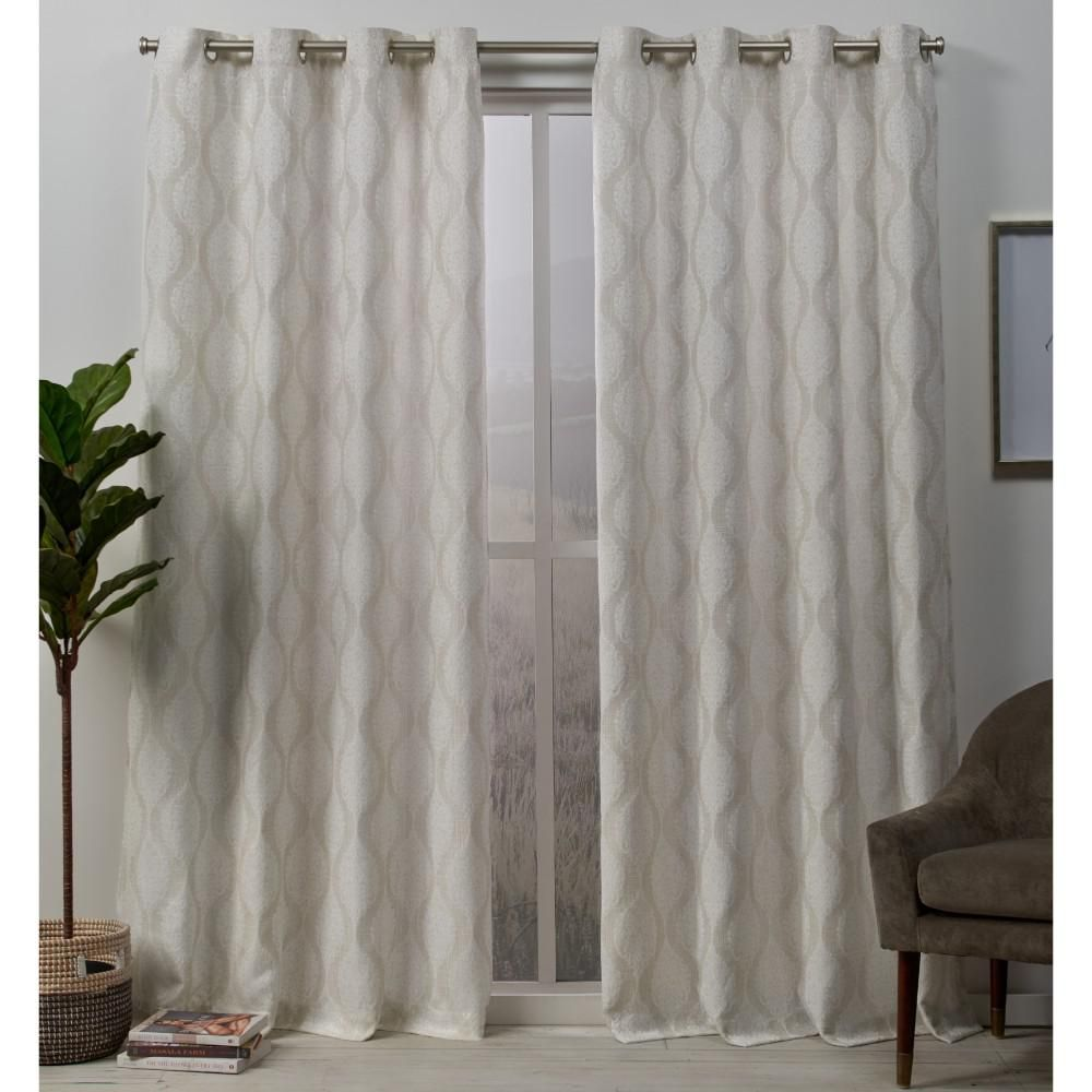 Exclusive Home Curtains Stark 54 In W X 84 In L Woven Blackout