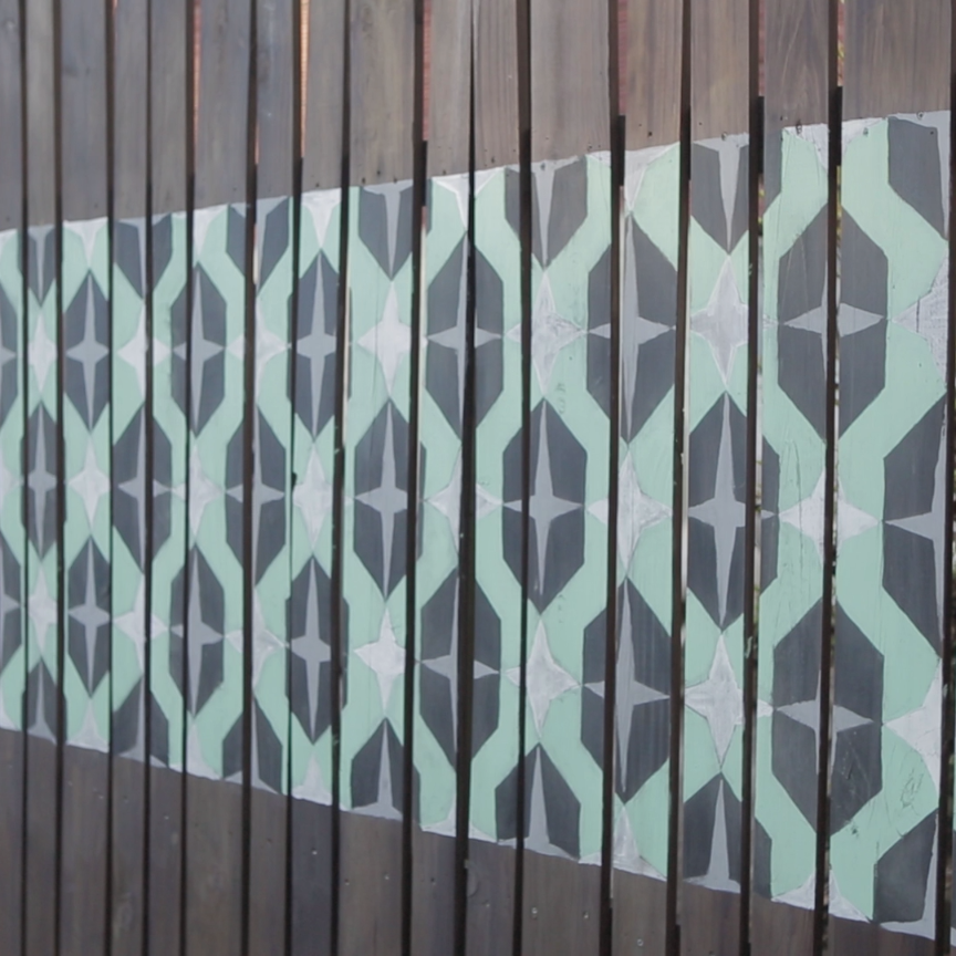 Update Your Fence With A Colorful Mural Diy Fence