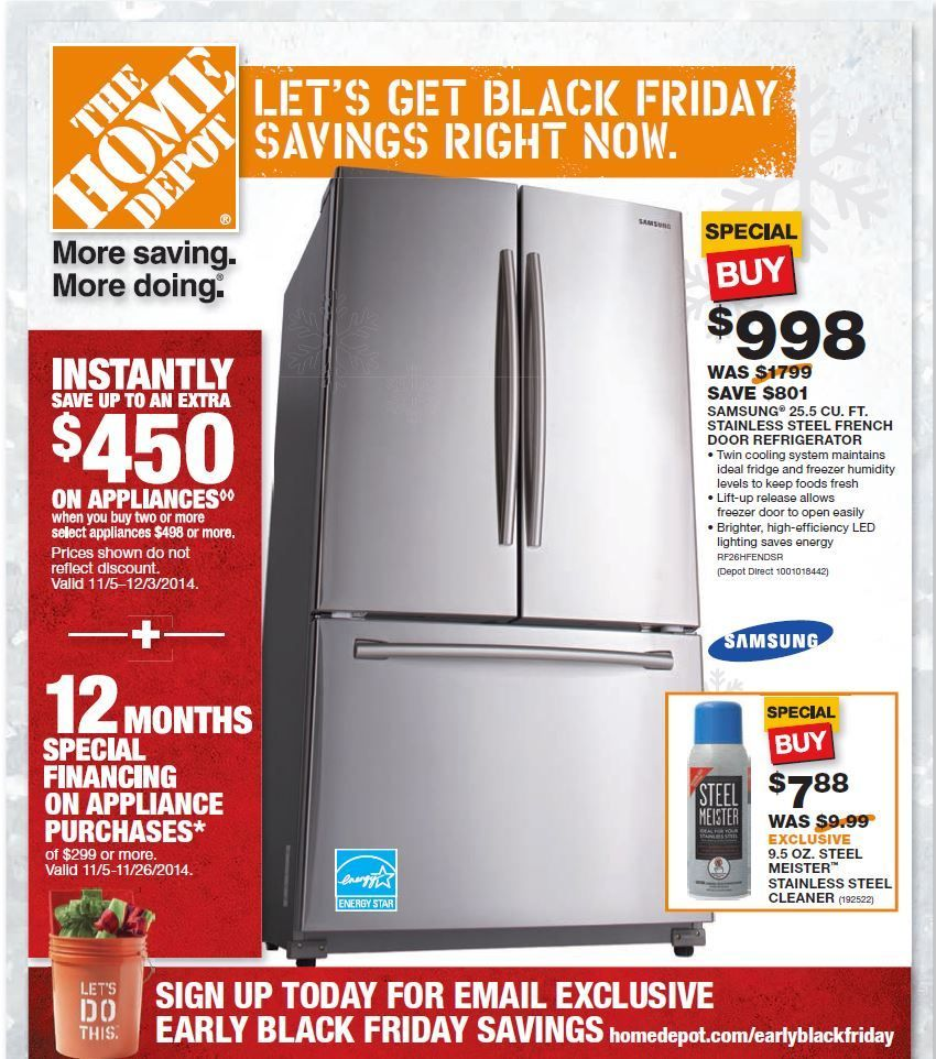 Home Depot Appliance Black Friday Flyer And Ad Scan 2014 Home Depot Coupons Free Printable Coupons Black Friday Ads