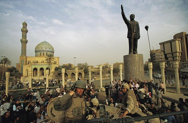On April 9, 2003, just three weeks into Operation Iraqi Freedom, U.S.-led coalition forces entered Baghdad and quickly set about bringing down the statue of deposed Iraqi president Saddam Hussein that stood in the city's main square. Footage and photos of the event were beamed around the world, signifying the fall of Baghdad and encouraging Americans that the conflict would be swift and successful.