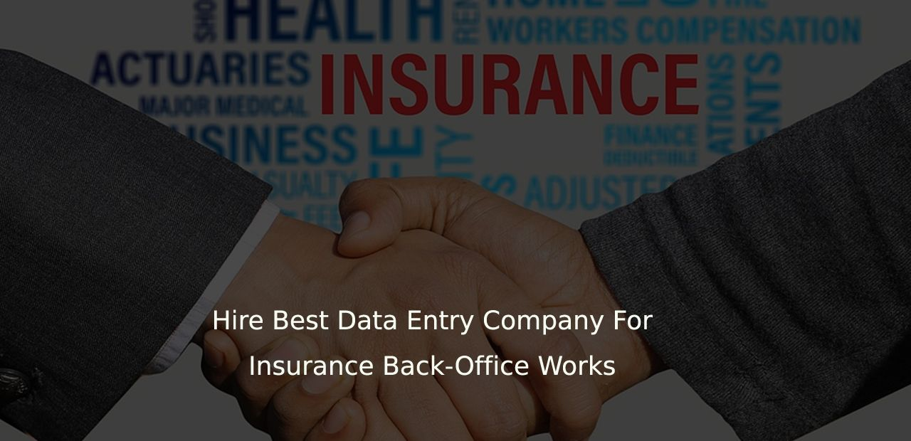 Hire Best Data Entry Company For Insurance Back Office Works Data Entry Best Insurance Data