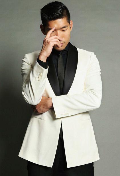 White Suit Jacket Black Pants