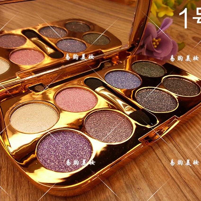 [Visit to Buy] 8 Colors NEW Diamond Bright Nake Makeup